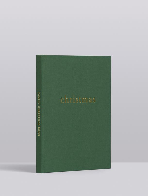 CHRISTMAS. FAMILY CHRISTMAS BOOK. FOREST GREEN