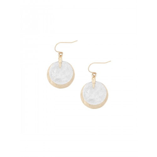 Gold & Silver Double Disc Earring