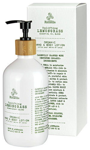 Flourish Organics Hand & Body Lotion Lemongrass