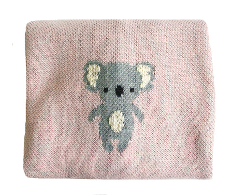BAA BAA BLANKET - DUSTY PINK