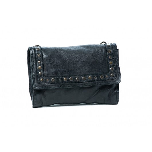 Puma Cross Body Leather Bag - Black