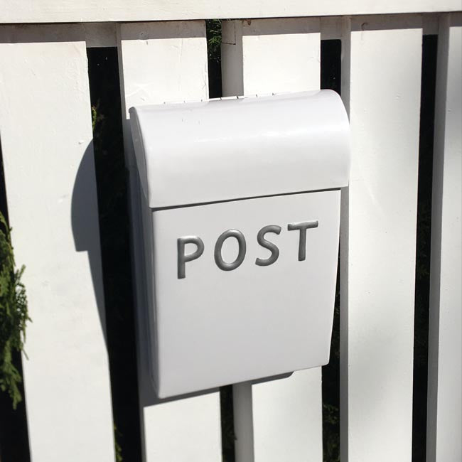 Post Box - White Medium