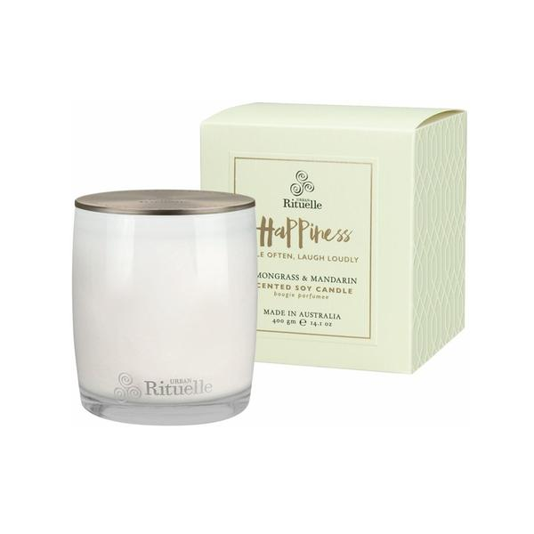 Happiness Lemongrass & Mandarin Scented Soy Candle