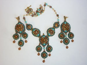 Casbah Earrings and Necklace 1