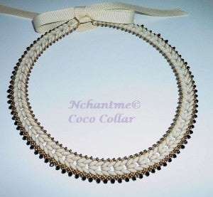 Coco collar ivory with logo