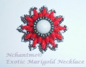 Exotic Marigold Necklace Candy Red 1 with logo