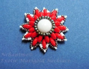 Exotic Marigold Necklace Candy Red 3 with logo