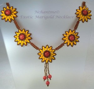 Exotic Marigold Necklace with logo 1