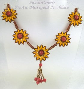Exotic Marigold Necklace with logo 5