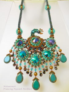 Prancing Peacock Necklace D