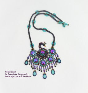 Prancing Peacock Necklace Fuchsia 2 logo