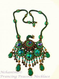 Prancing Peacock Necklace K