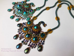 Prancing Peacock Necklace set