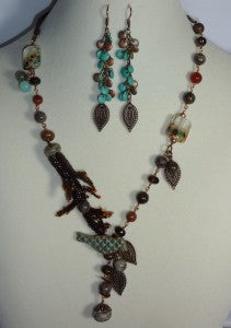 Quaking Aspen Necklace and Earrings 1