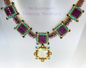 Venezia Necklace Amethyst Turq 1 with logo corrected