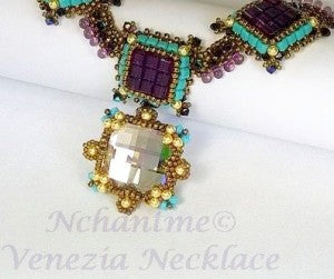 Venezia Necklace Amethyst Turq 2 with logo corrected