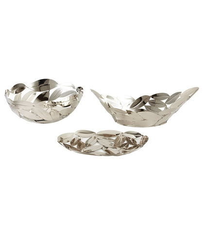 Set Of Nip Leaves Basket, Boat, & Platter