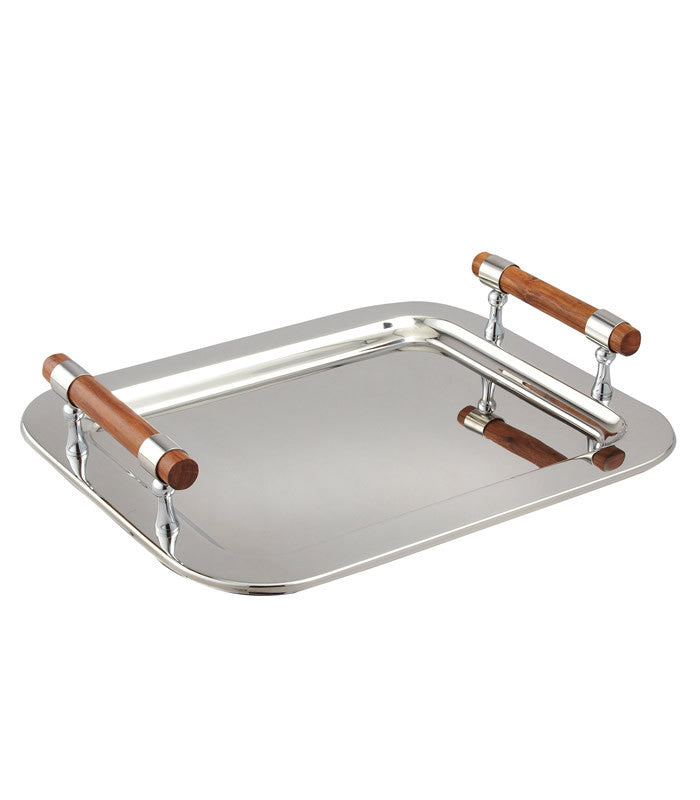 Tray With Wood Handle
