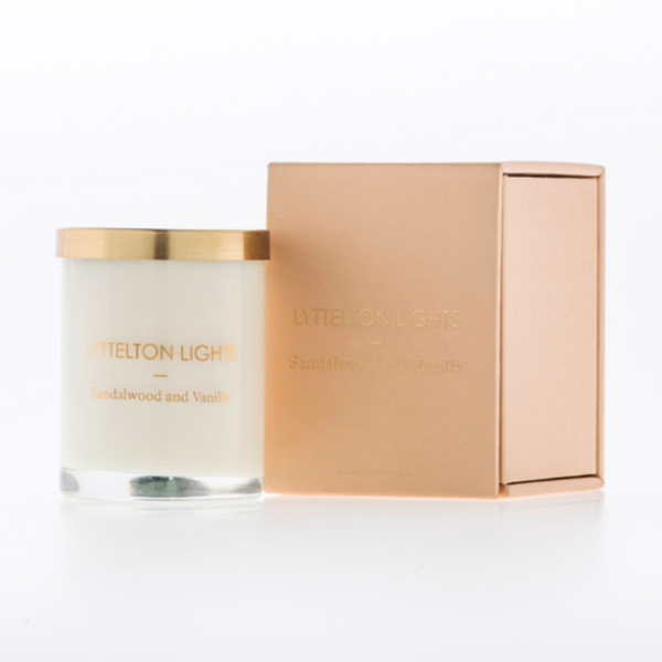 SANDALWOOD AND VANILLA LYTTLETON LIGHTS LARGE BOXED CANDLE