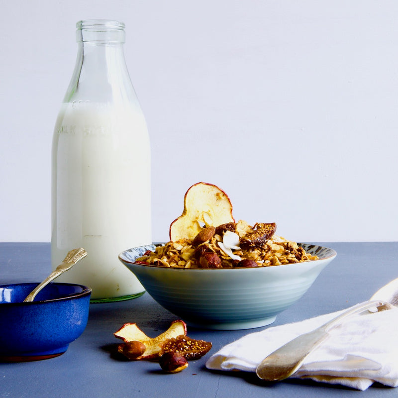 Vegan, dairy free, egg free - POMEGRANATE, FIG & RED APPLE GRANOLA