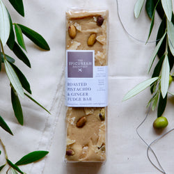 ROASTED PISTACHIO & GINGER FUDGE BAR  I  PB GF DF VG