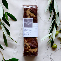 TAHINI, ESPRESSO & HAZELNUT DARK CHOCOLATE BROWNIE