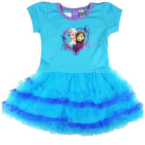 Disney Frozen Anna and Elsa Blue Layered Dress
