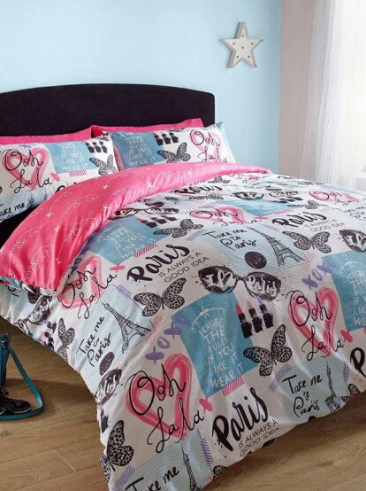 Take Me To Paris Single Duvet/Quilt Cover Set