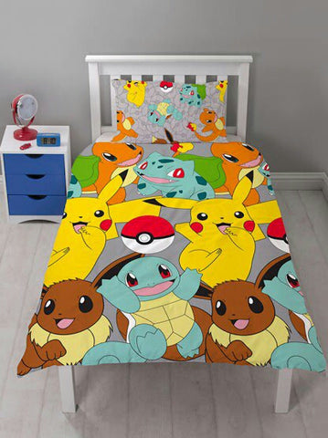 Pokemon 'Catch' Single Duvet/Quilt Cover Set