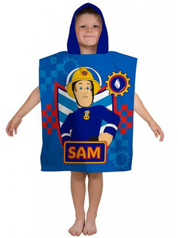 Fireman Sam Workshop Poncho Towel