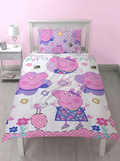 Peppa Pig Happy Single Duvet/Quilt Cover Set