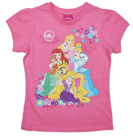 Disney Princess 'Palace Pets' Pink Summer Tee