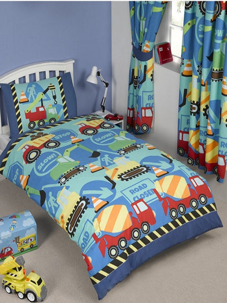 Construction Time Junior Duvet/Quilt Cover Set