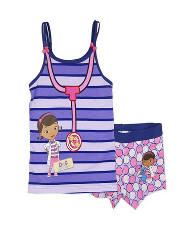 Doc McStuffins Stripe Vest with Short Set