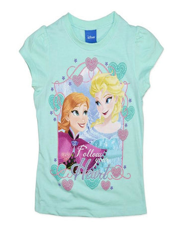 Disney Frozen Anna and Elsa 'Follow you Heart' Summer Tee