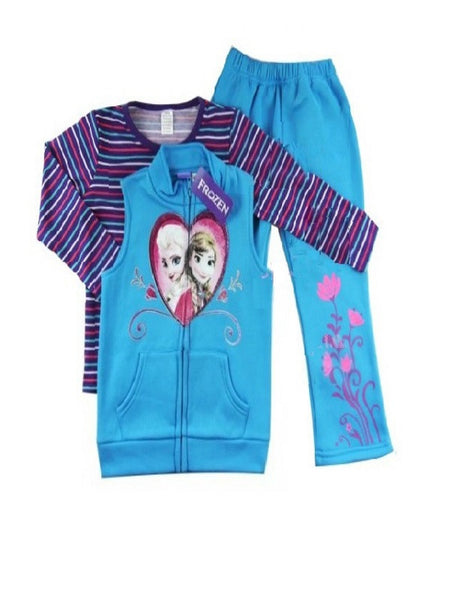 Disney Frozen Blue 3 Piece Fleece Tracksuit **Sz 3 left**