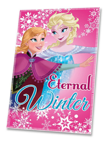 Disney Frozen Anna and Elsa 'Eternal Winter' Fleece Blanket