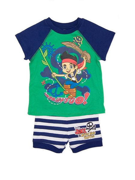 "Disney Jake and the Neverland Pirates ""Let's go!"" Summer Pyjamas"