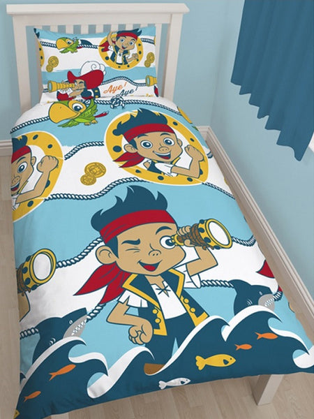 Jake and the Neverland Pirates 'Sharks' Single Duvet/Quilt Cover Set