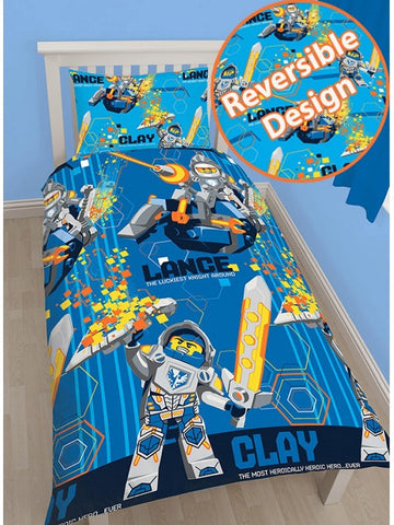 Lego 'Knights Power' Single Duvet/Quilt Cover Set