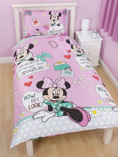 Minnie Mouse 'Makeover' Single Duvet/Quilt Cover Set