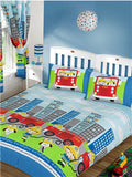 Nee Naa Fire Engine Single Duvet/Quilt Cover Set