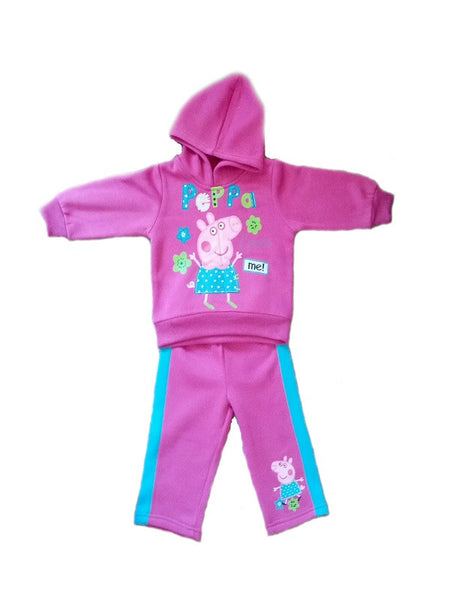 Peppa Pig Hooded Pink/Blue Stripe Tracksuit