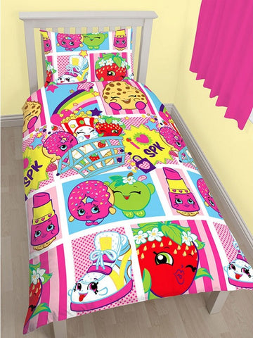 Shopkins 'Shopaholic' Single Duvet/Quilt Cover Set