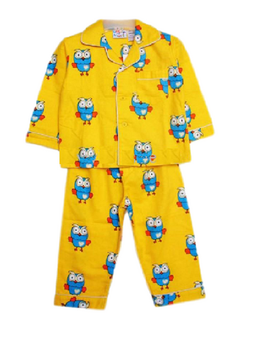 "Giggle and Hoot ""Hoot"" Yellow Winter Pyjamas"