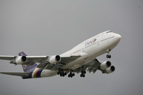 747 in flight