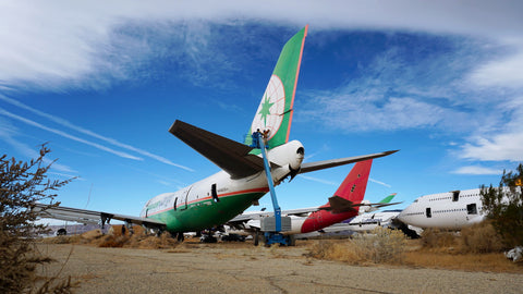 EVA Air Mojave boneyard