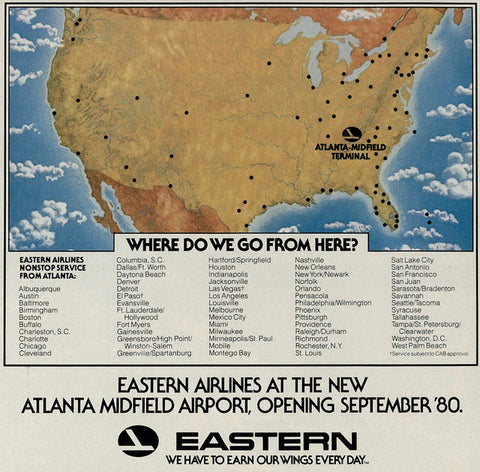 Eastern Air Lines Routes