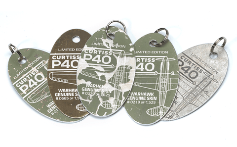 keychains made from airplanes
