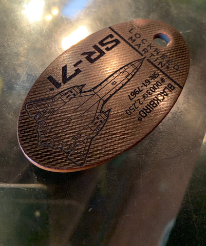 Finished SR71 PlaneTag